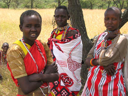 Mujeres masai. Kenya. Agosto de 2003