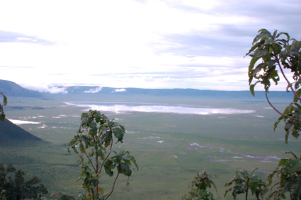 Vista del cráter deNgorongoro