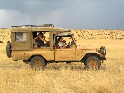 La Diligencia rodeada de ñúes. Masai Mara, Kenya, septiembre de 2006