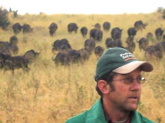 Topo Pañeda en la Migración. Masai Mara, Kenya, septiembre de 2006