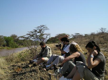 Desayuno en Samburu. Kenya. Septiembre de2005