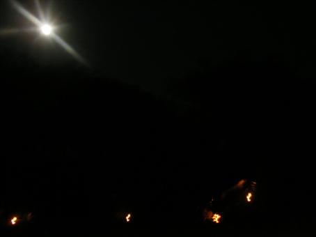 Campamento de Losho bajo la Luna llena. Septiembre de 2007