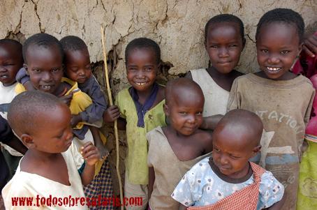 Niños masai. Kenya. Septiembre de 2007