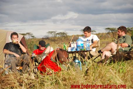 Upepo Camp. Masai Mara, Kenya, septiembre de 2007