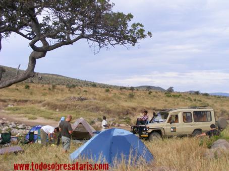 Upepo Camp. Masai Mara, Kenya, septiembre de2007