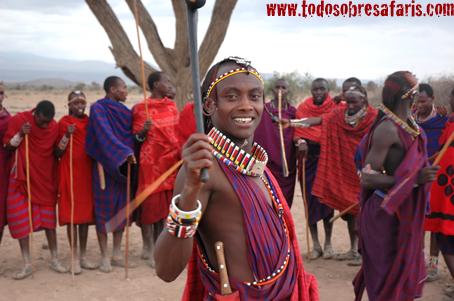 Visita a un poblado masai en Amboseli. Septiembre de 2006