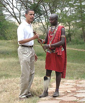 Barrack Obama en Masai Mara